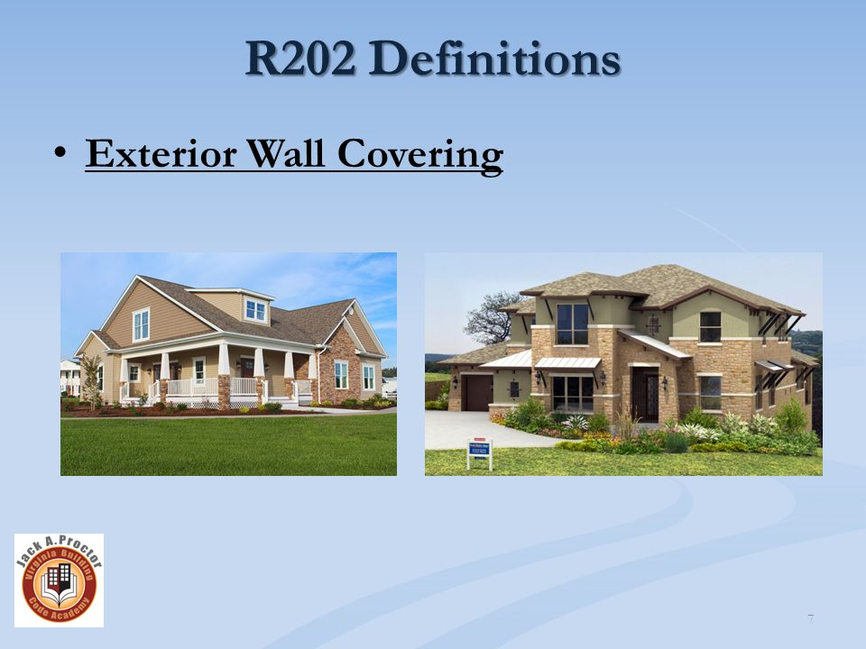 Virginia residential code ppt download for Exterior definition