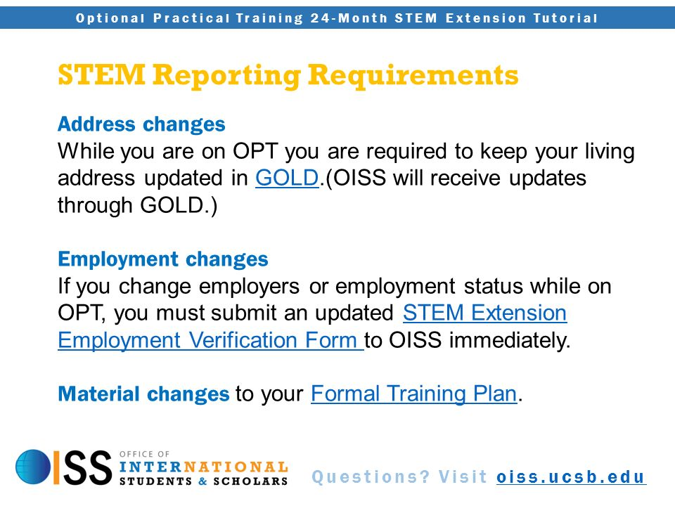 Optional Practical Training (OPT) 24-Month STEM Extension Tutorial ...