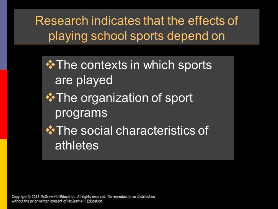 effects of sports in society Benefits of sport to individuals, society and the economy boosting participation in sport can generate a variety of socio-economic benefits sport can, and does, make a profound and positive impact on individuals, communities and wider society.
