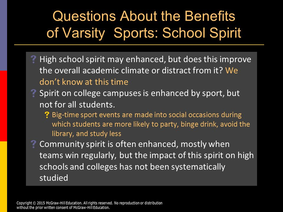 benefits of high school sports essay Free essay: high school sports in high school many kids often choose not to   teaching, there are many benefits to playing high school sports for the athlete,.