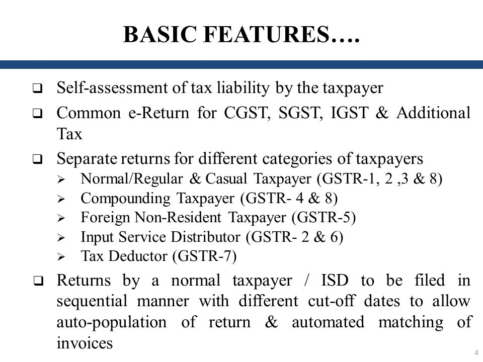 Salient Features of Service Tax