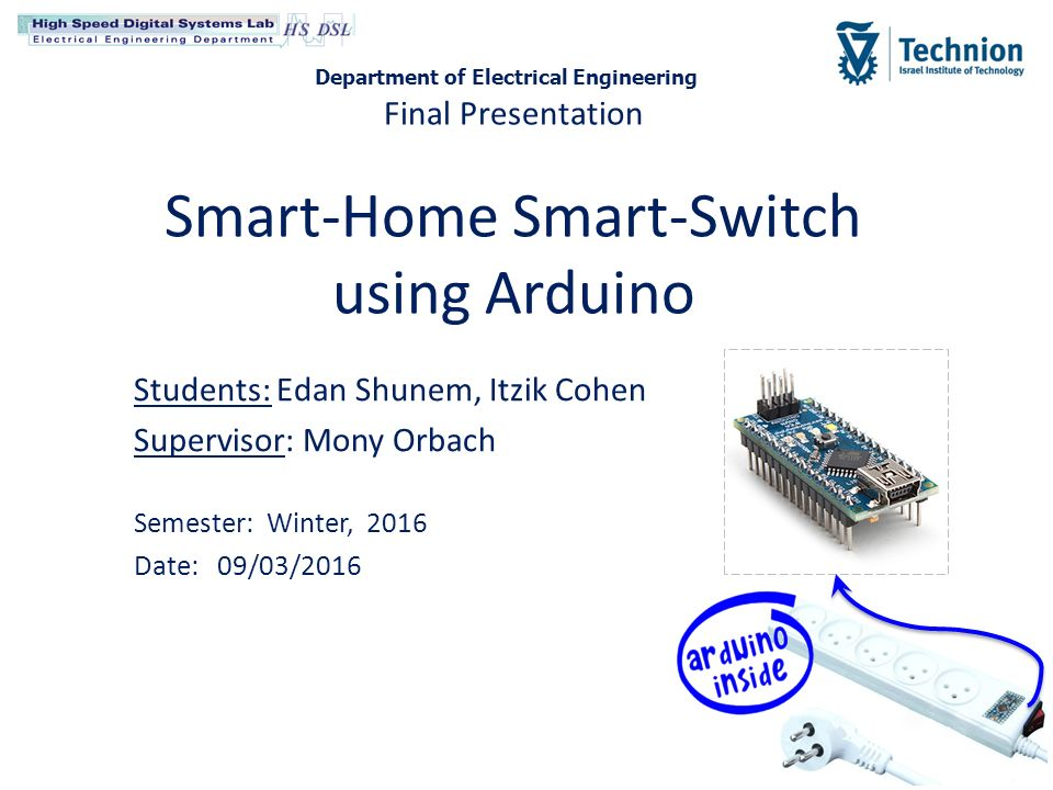 Final Presentation Smart-Home Smart-Switch using Arduino