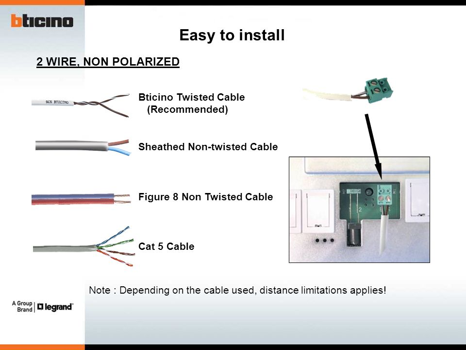 Note+%3A+Depending+on+the+cable+used%2C+distance+limitations+applies%21 2 wire door entry system (des of mh bt offer) ppt video online bticino intercom wiring diagram at n-0.co