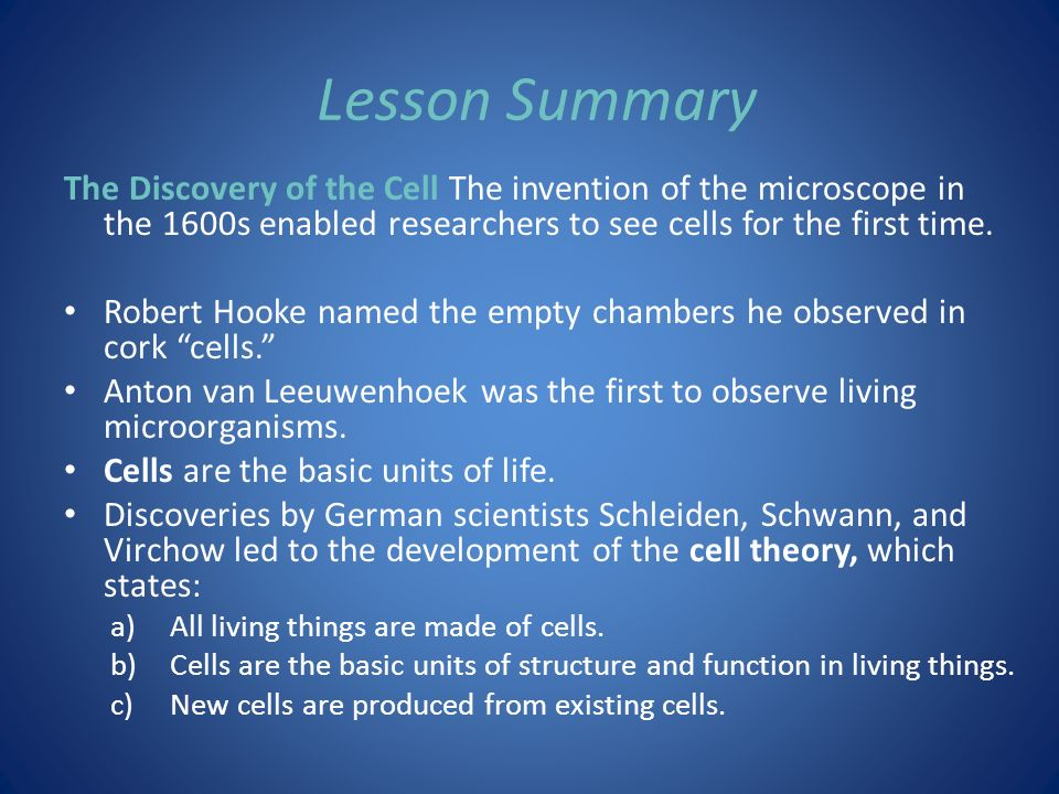 7.1 Life Is Cellular Lesson Objectives State the cell theory ...