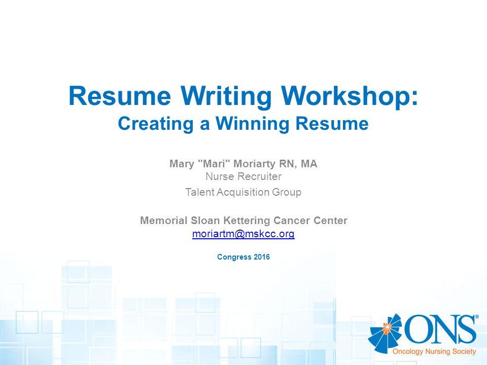 Resume Writing Workshop Creating A Winning Resume Ppt Video