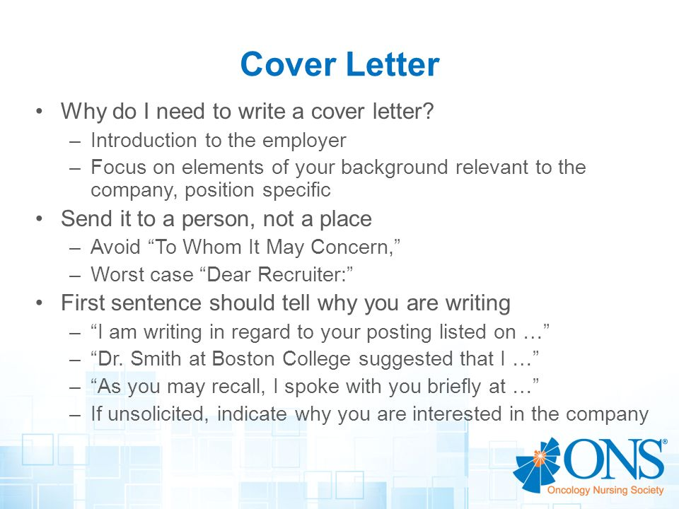 what needs to be included in a cover letter - writing a cover letter video