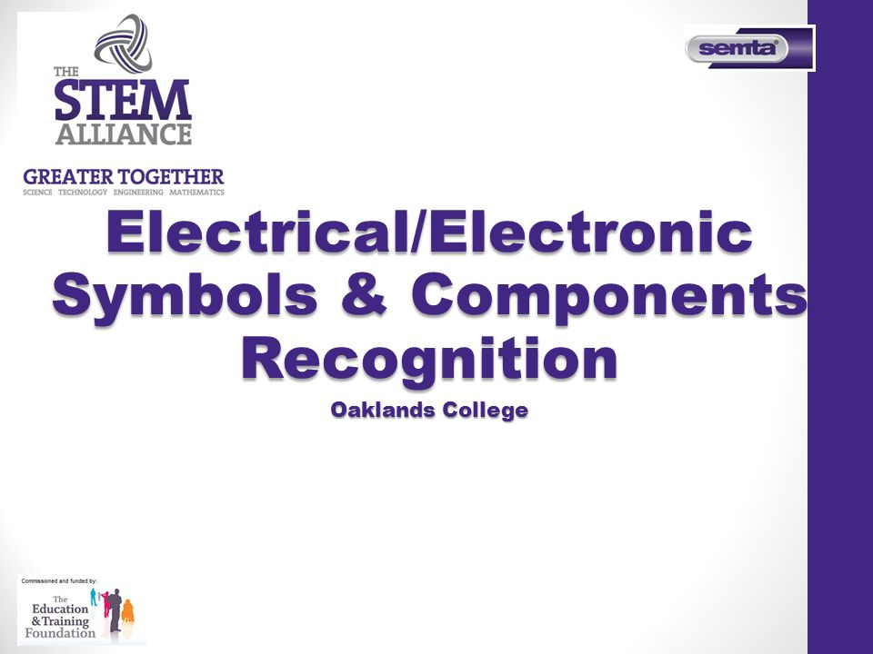 Electricalelectronic Symbols Components Recognition Ppt Video