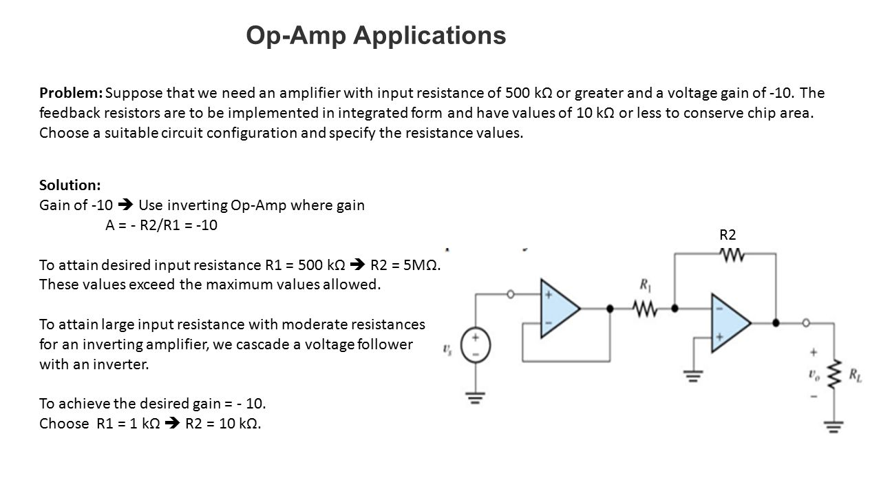 Operational amplifier applications