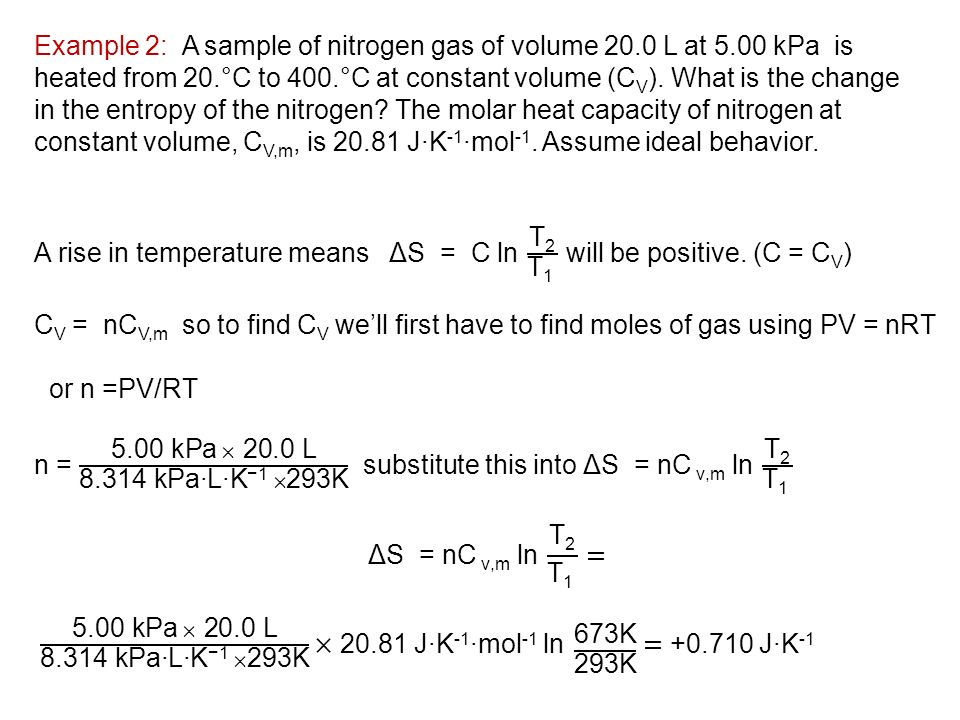 Thermochemistry the Second and Third Laws - ppt download