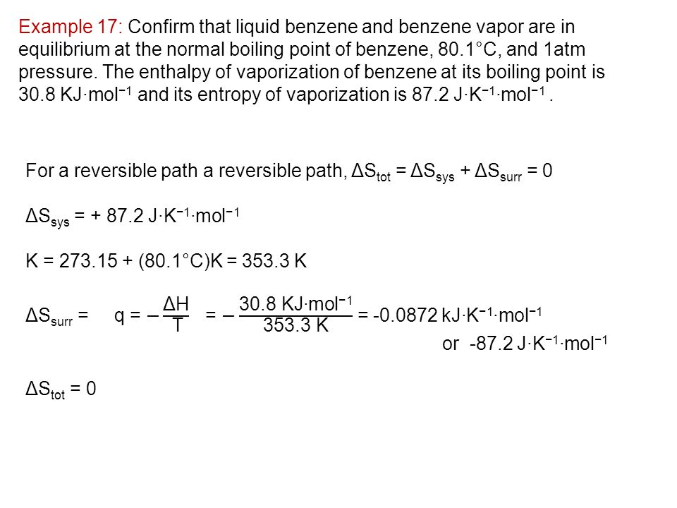 how to find entropy of vaporization