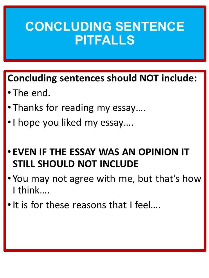 Good sentences for concluding essays