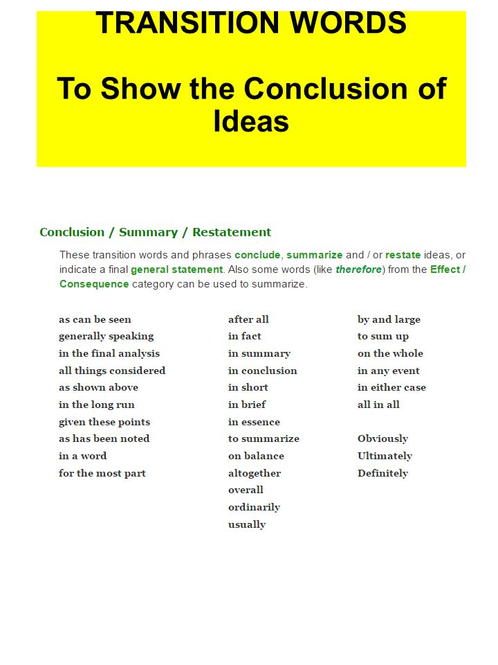 transition words essays conclusions Find and save ideas about transition words examples on pinterest examples of good conclusions for argumentative essays ideas dec 2017 how to end an essay.