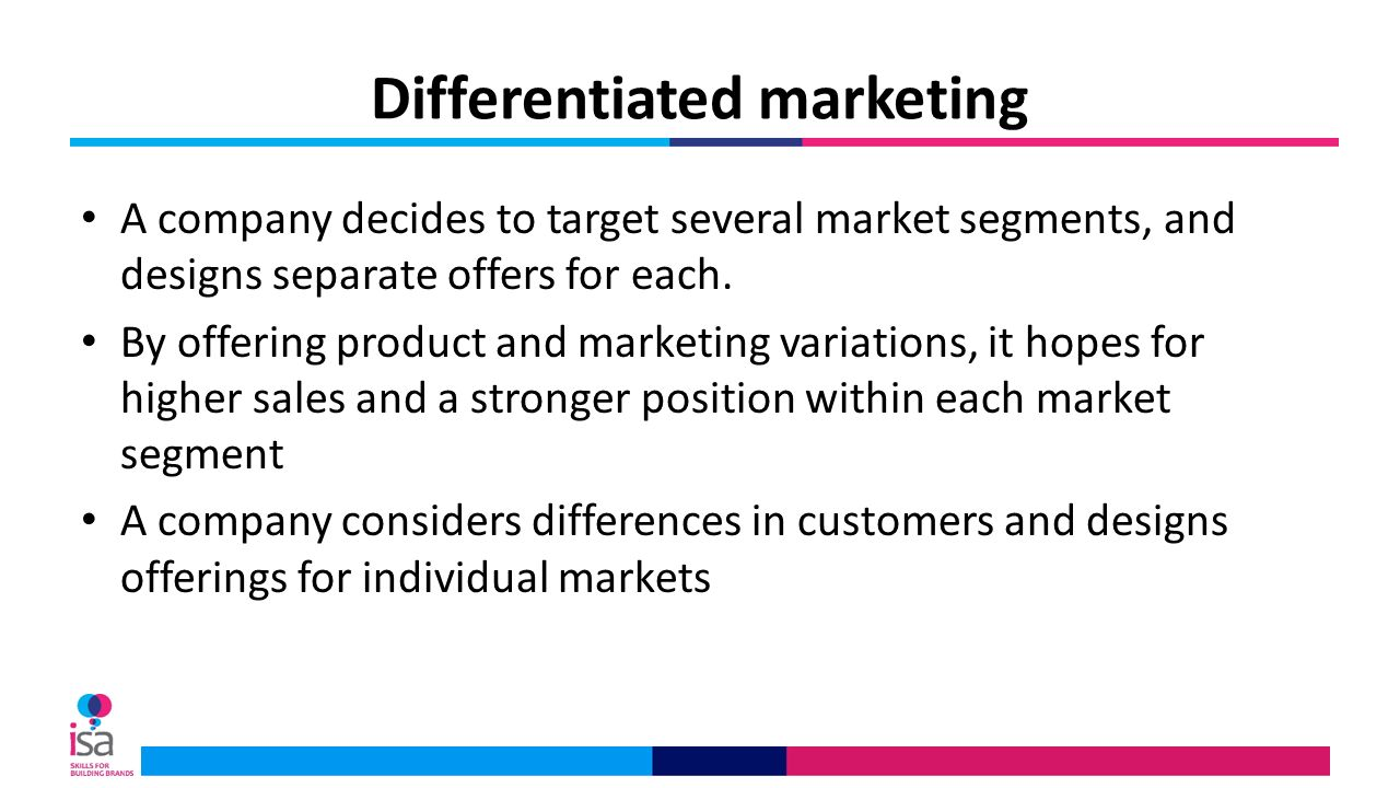 differentiated segmentation of bp market Definition: marketing strategy looking for a simple definition of marketing strategy  market size and growth, competitors, complementors, and customers.