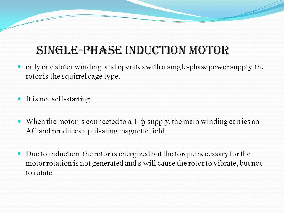 Induction Motor Is Not Self Starting 28 Images Types