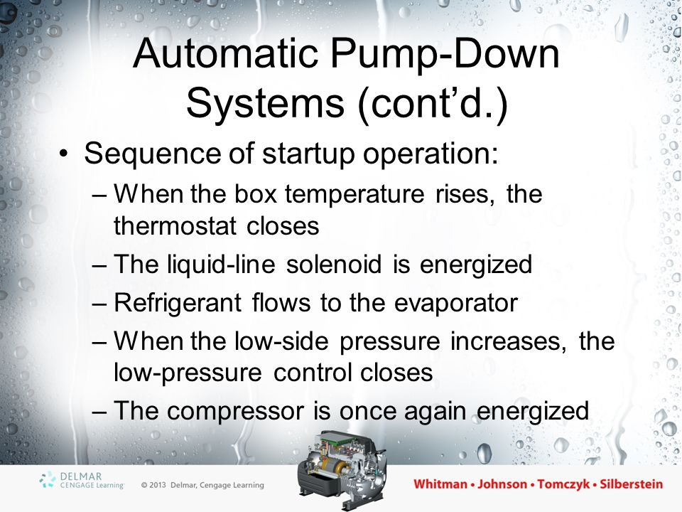 Automatic+Pump Down+Systems+%28cont%E2%80%99d.%29 section 5 commercial refrigeration ppt video online download pump down refrigeration system wiring diagram at readyjetset.co