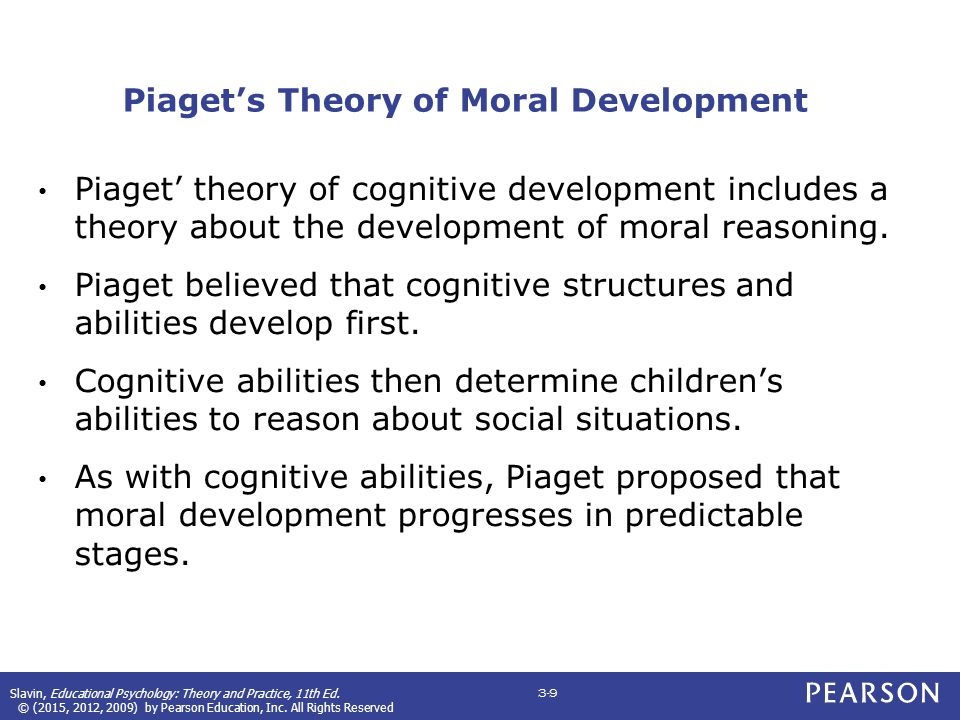 piagets theory of cognitive moral development Webmd explains the piaget stages of development and how they are reflected in your child's intellectual growth  k piaget's stages of cognitive development, in m  w piaget's theory of.