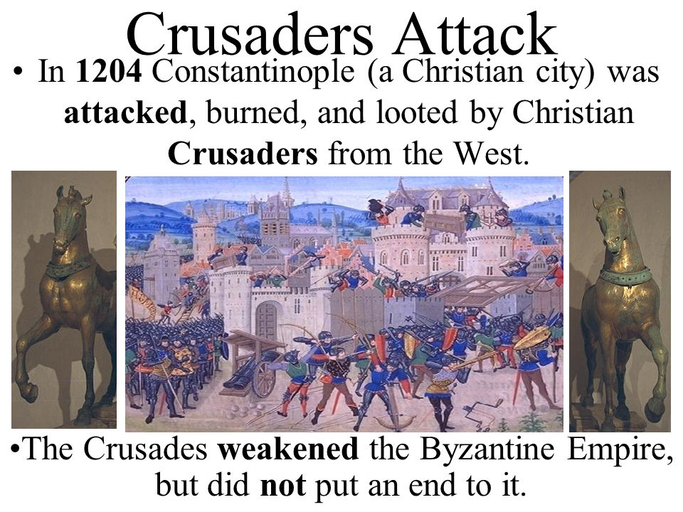 describing the crusaders of the western european christians This resulted in the launching of additional crusades by the christians the second crusade was the most successful of all true or false false it was a failure and led to the rise of a new muslim leader  the european ships that brought the crusaders to the middle east returned to europe with rugs, jewelry, glass and spices demand for.