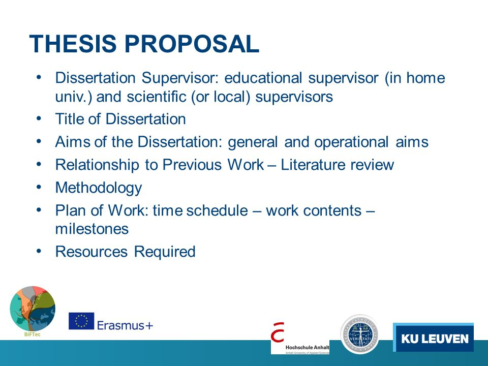 dissertation proposals education
