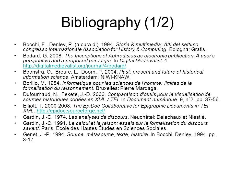 Bibliography (1/2)