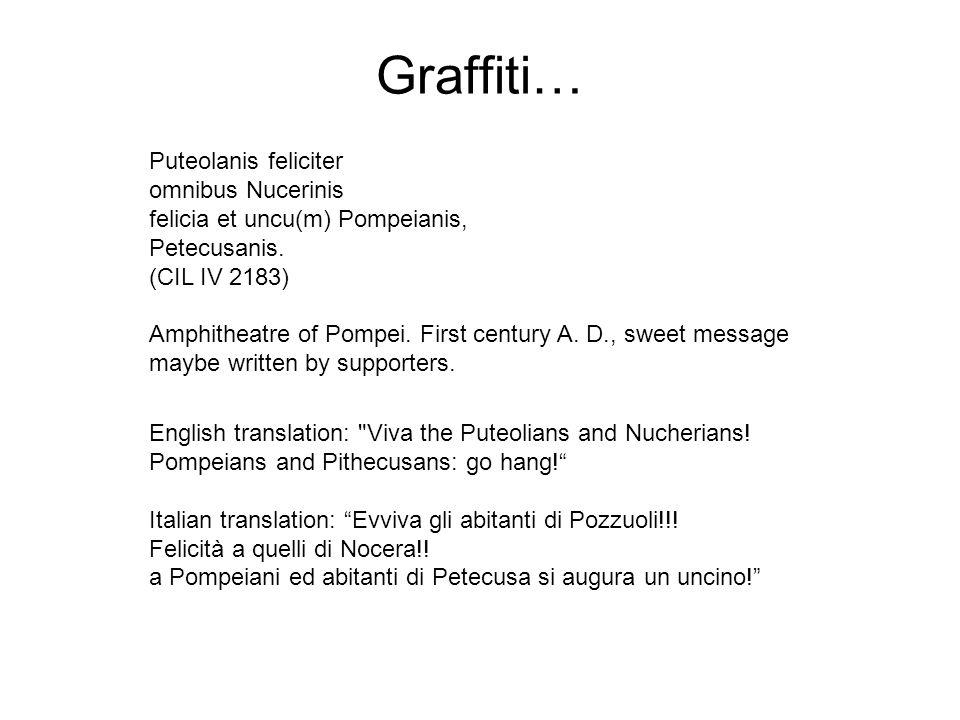Graffiti… Puteolanis feliciter omnibus Nucerinis