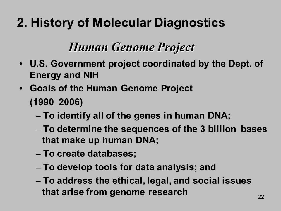 a history and the development of the human genome project The genomics intelligence revolution  we've entered a new phase in the history of whole genome  before the human genome project published the.