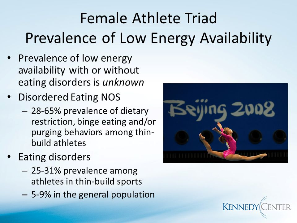 eating disorder among female athletes Nervosa, subclinical eating disorders, pathogenic weight control behaviors,  female athlete triad, body image disordered eating (de) in athletes is  characterized.