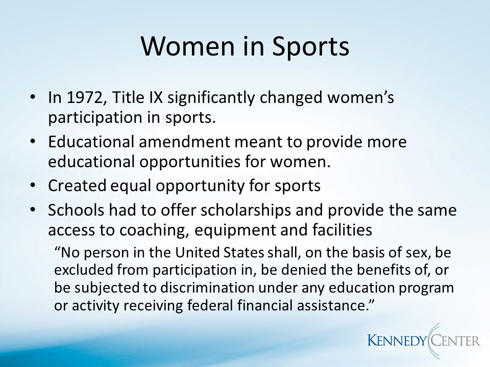 Women should be given equal opportunities in sports