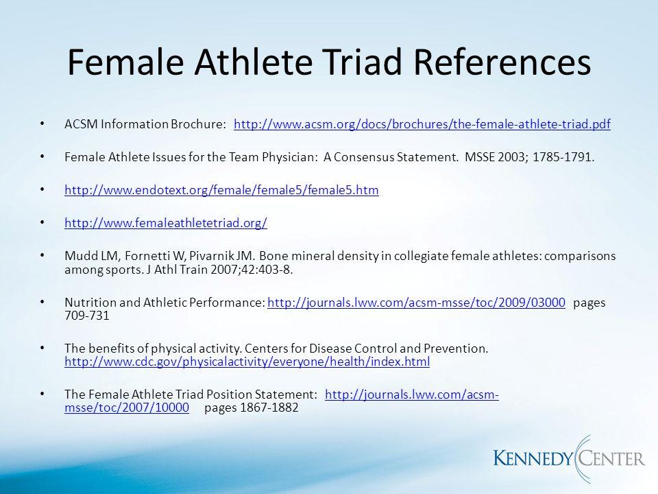 Female Athlete Triad Dr Willa Fornetti Do Ms Ppt