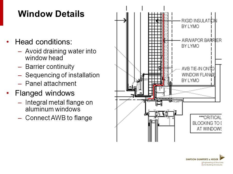 Aluminum Window Details : The ins and outs of metal rainscreen wall systems ppt