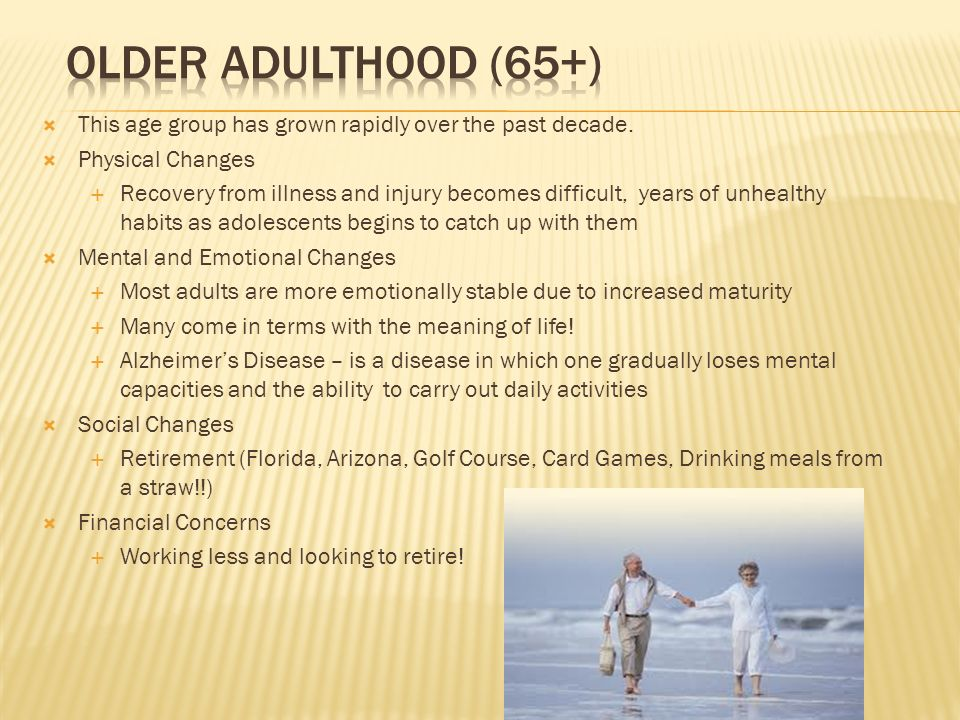from adolescence to adulthood