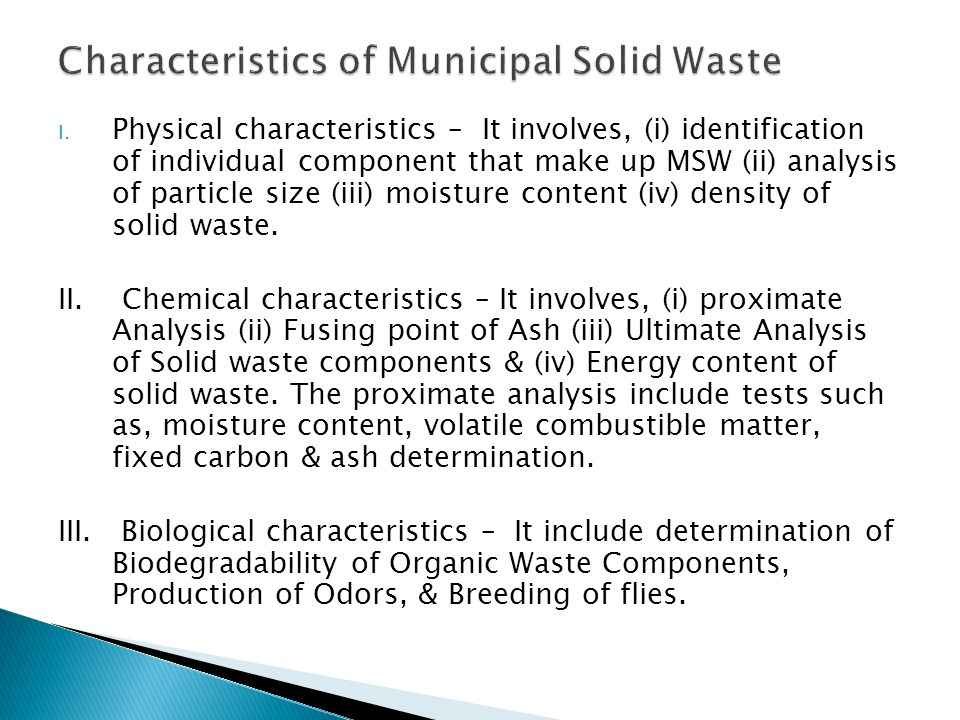 an analysis of the municipal dumpsites of solid wastes Abstract this paper reports the result of municipal solid waste analysis  undertaken in kano metropolis  collected from dump sites in the three identified.