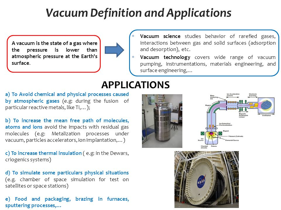 Vacuum Definition And Applications