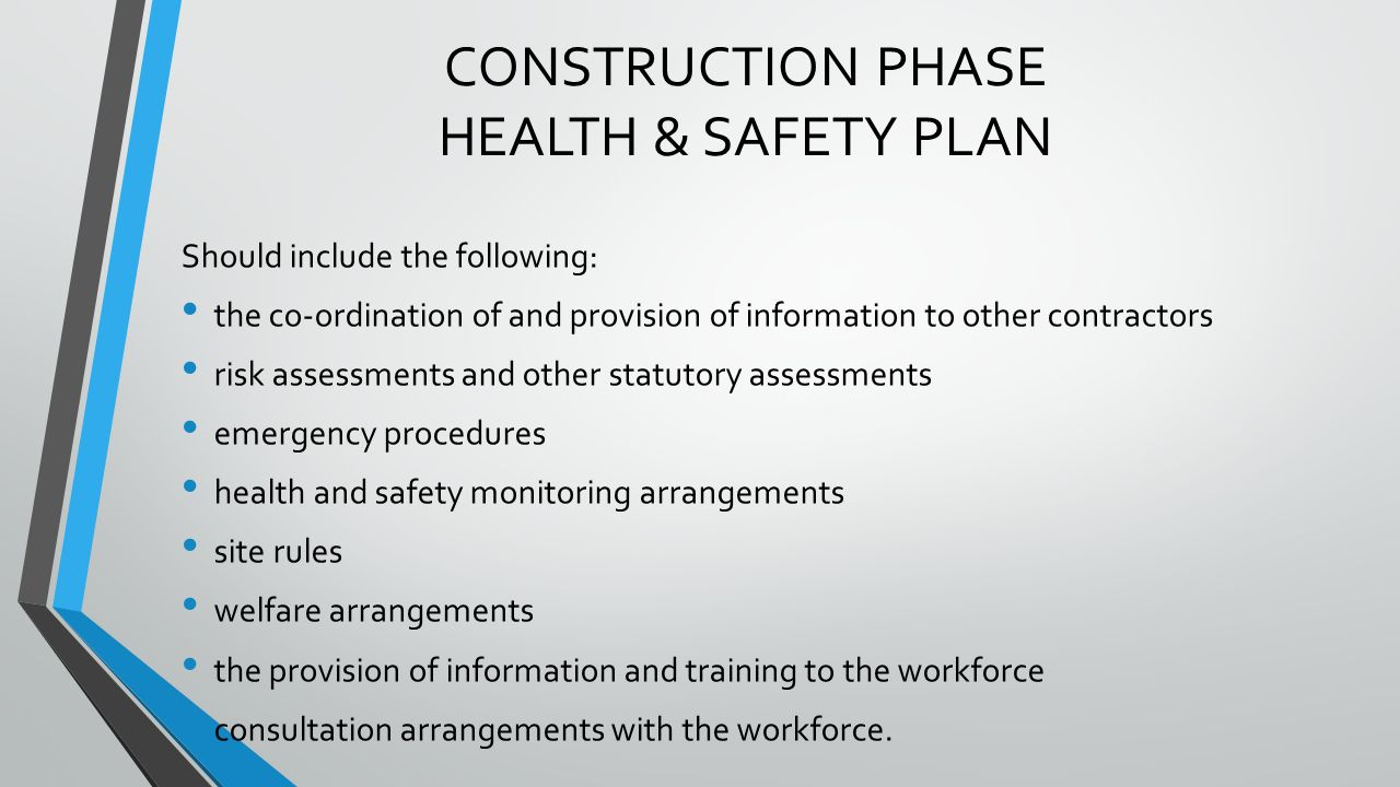Health and safety arrangements template gallery template for Cdm construction phase plan template
