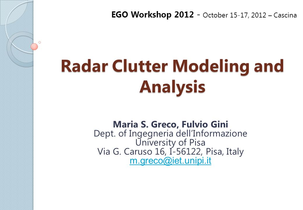 an introduction to the analysis of radar Lidar an introduction and overview  comparison of lidar and radar lidar radar uses optical signals  landslide risk analysis.