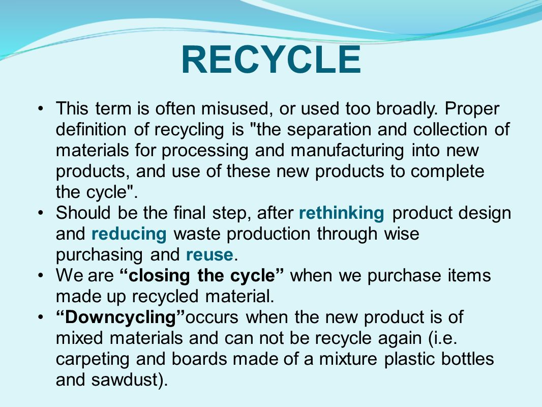 Let s talk trash ppt video online download for Use of waste material