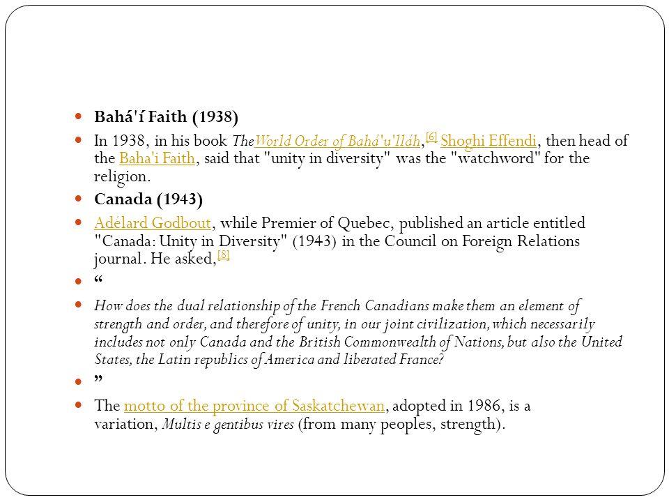 Bahá í Faith (1938)