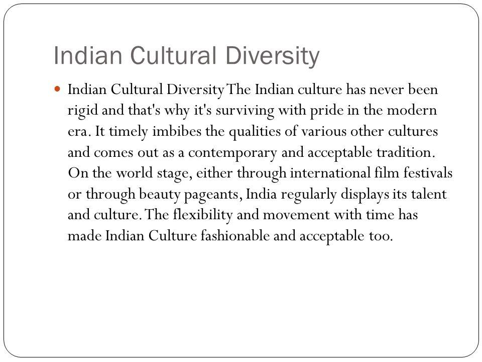 Indian Cultural Diversity