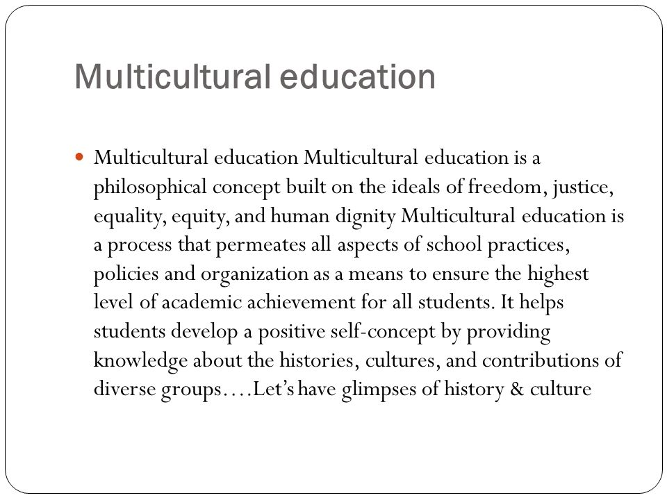 Multicultural education