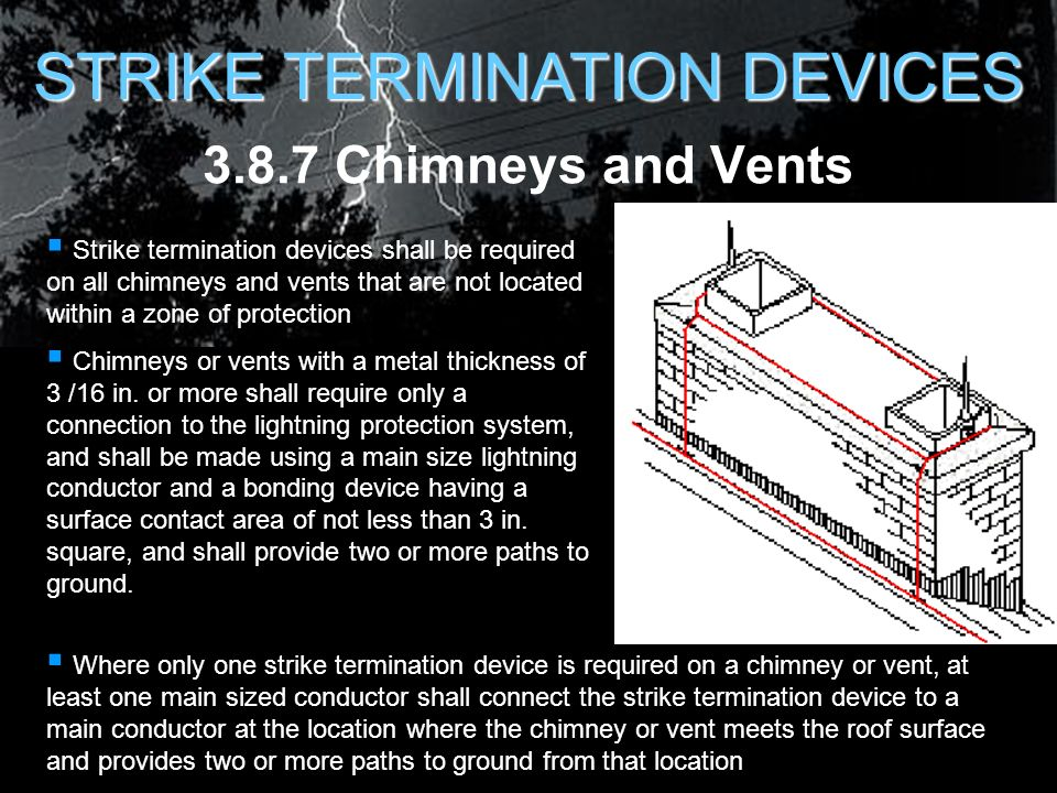Lightning protection for air force facilities ppt download 14 strike termination devices greentooth Image collections