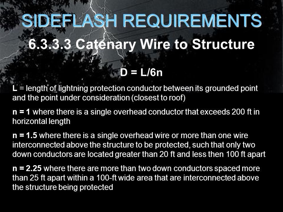 Lightning protection for air force facilities ppt download 6333 catenary wire to structure greentooth Gallery