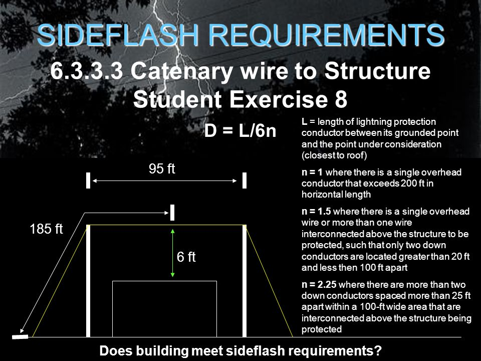 Lightning protection for air force facilities ppt download 6333 catenary wire to structure student exercise 8 greentooth Gallery
