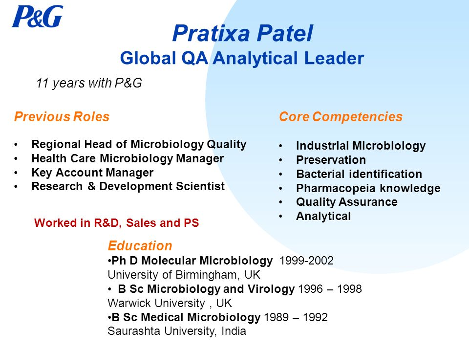 pratixa patel global qa analytical leader - Global Account Manager