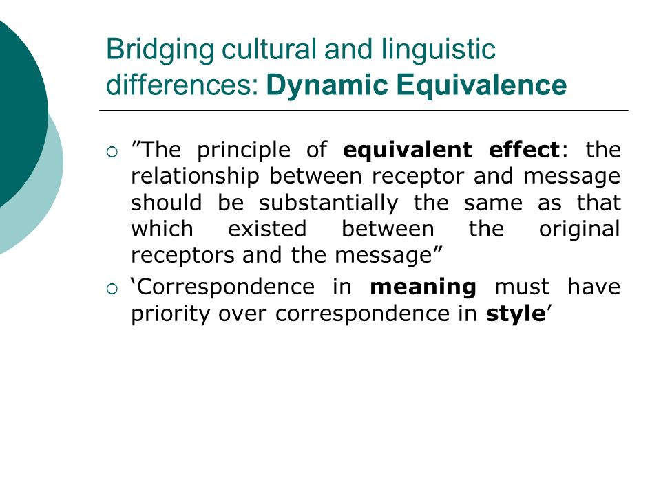 dynamic and formal equivalence 3 essay Choose from 500 different sets of equivalence flashcards on quizlet  formal equivalence dynamic equivalence.