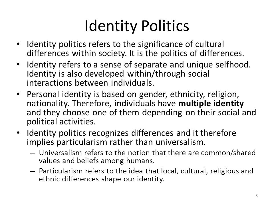the idea of the sense of ownership and identity in society Ethnicity and belonging: an overview of a to their life experiences and their sense of collective identity themselves in terms of identity ownership.