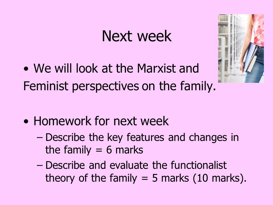 describe the functionalist essay Find essay examples functionalist and feminist views of the family the importance of family to the functionalist model lies in the universal functions it.