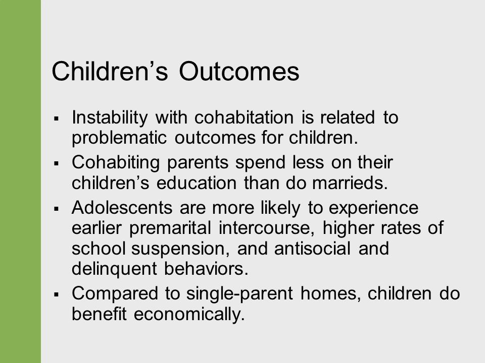 effects of single parent homes on education Even controlling for variations across groups in parent education, race and in single-parent homes or in step grew up in a fatherless home.