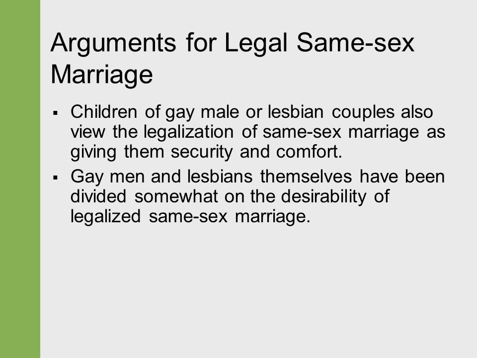 argument marriage opposing same sex
