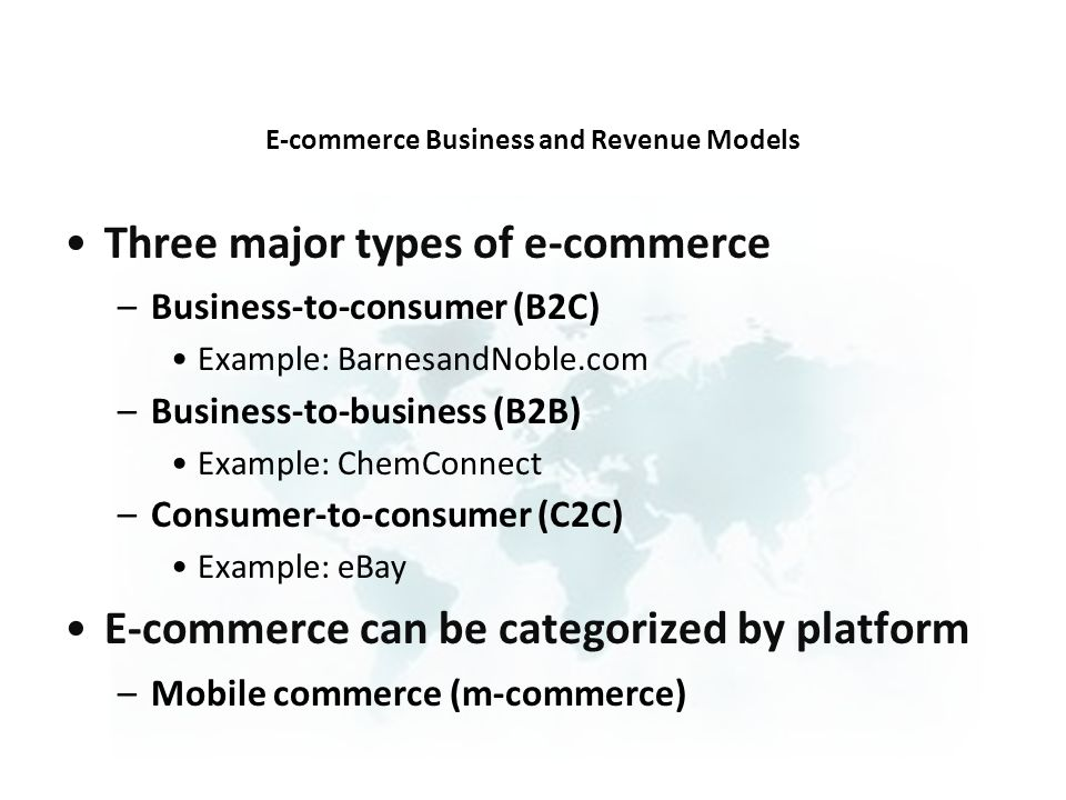E-commerce Business and Revenue Models