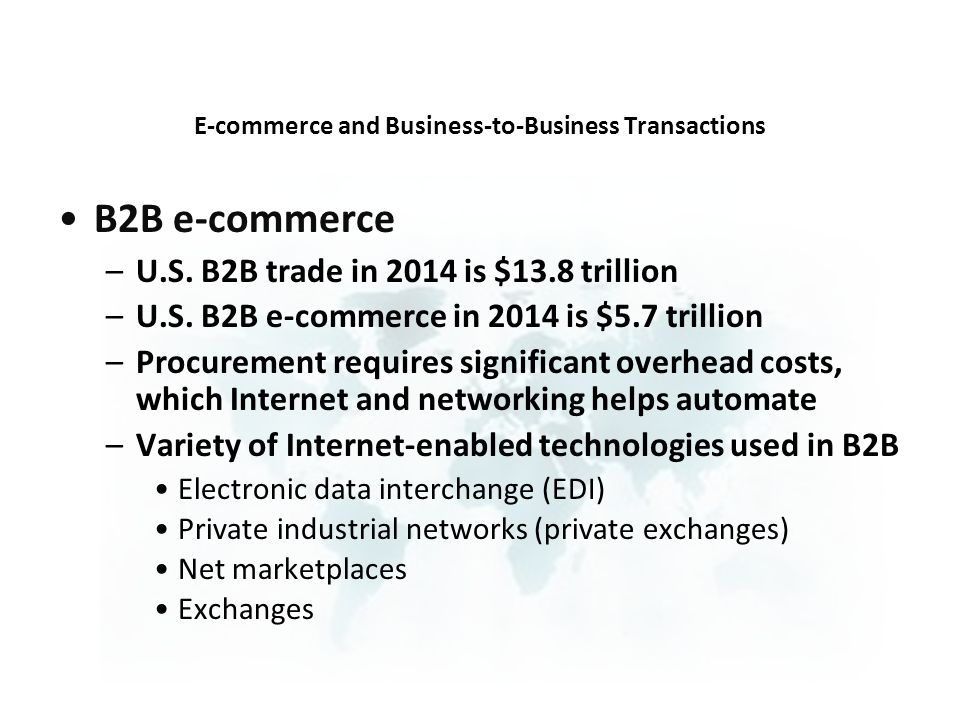 E-commerce and Business-to-Business Transactions