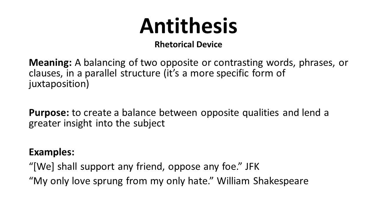 rhetorical terms examples